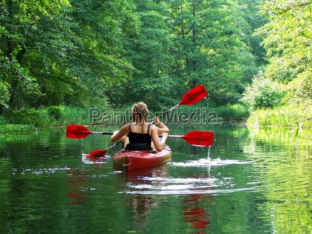 paddeln, in, der, grünen, lunge - 372461