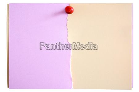 pink beige notiz