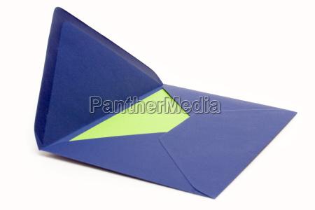 blauer briefumschlag