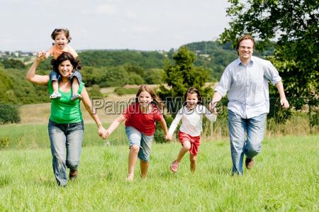 rennende familie