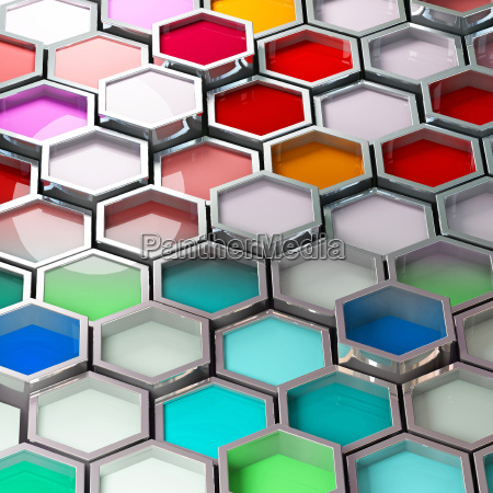 3d image of different color metal