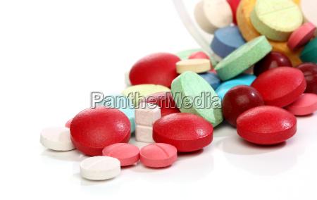 gruppe der medizin bunte pillen