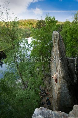 male rock climber