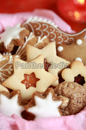 detail der weihnachtsplaetzchen