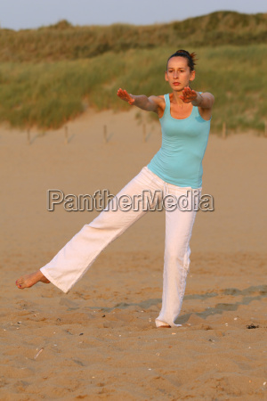 yoga by sunset