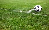 soccer ball on corner