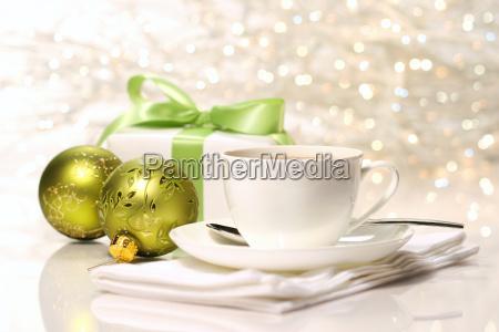 tea break preparing for christmas