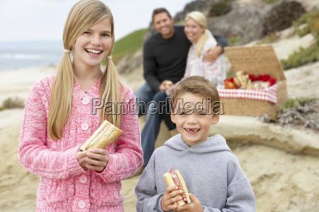 family dining al fresco at the