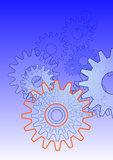 zahnrad team technik symbol hochformat