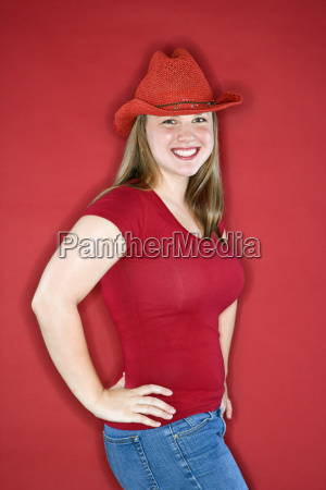 smiling happy cowgirl