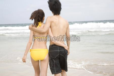 back figure of japanese couple