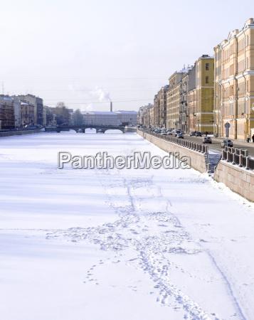 fontanka embankment near the obukhovsky bridge