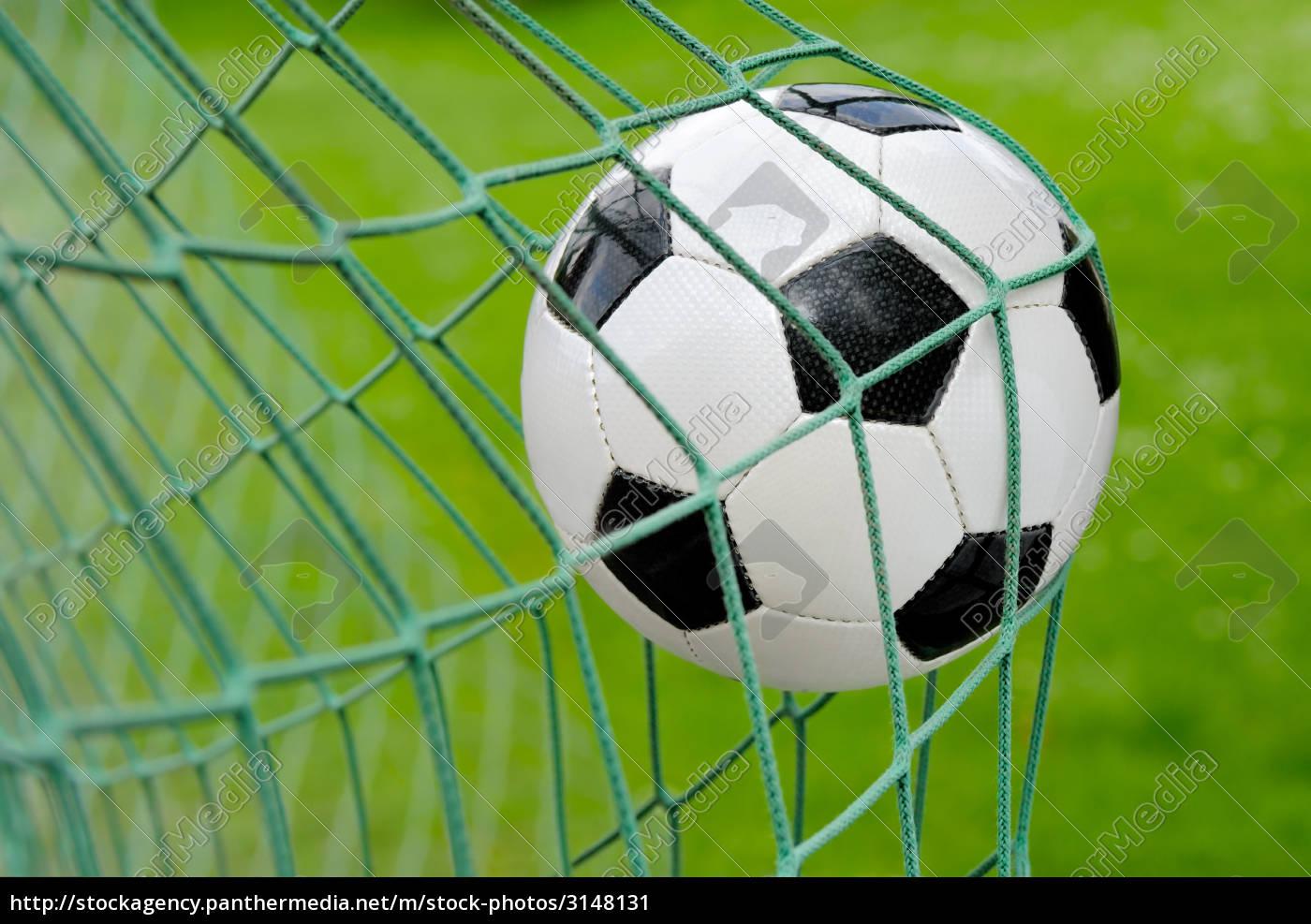 fußball, fliegt, ins, tor - 3148131