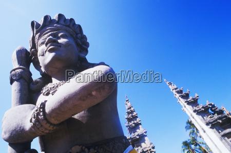 close up of a statue bali