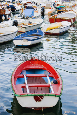boats moored at a harbor italian