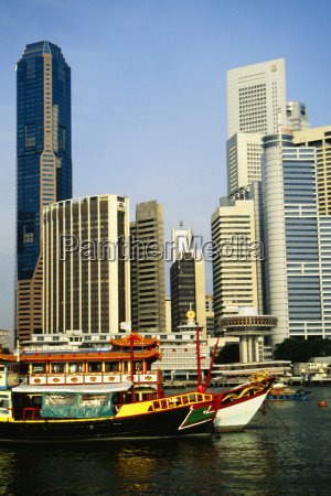 skylines in a city singapore