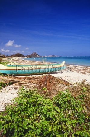 boat on the beach bali indonesia