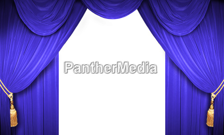 offene vorhaenge eines theaters