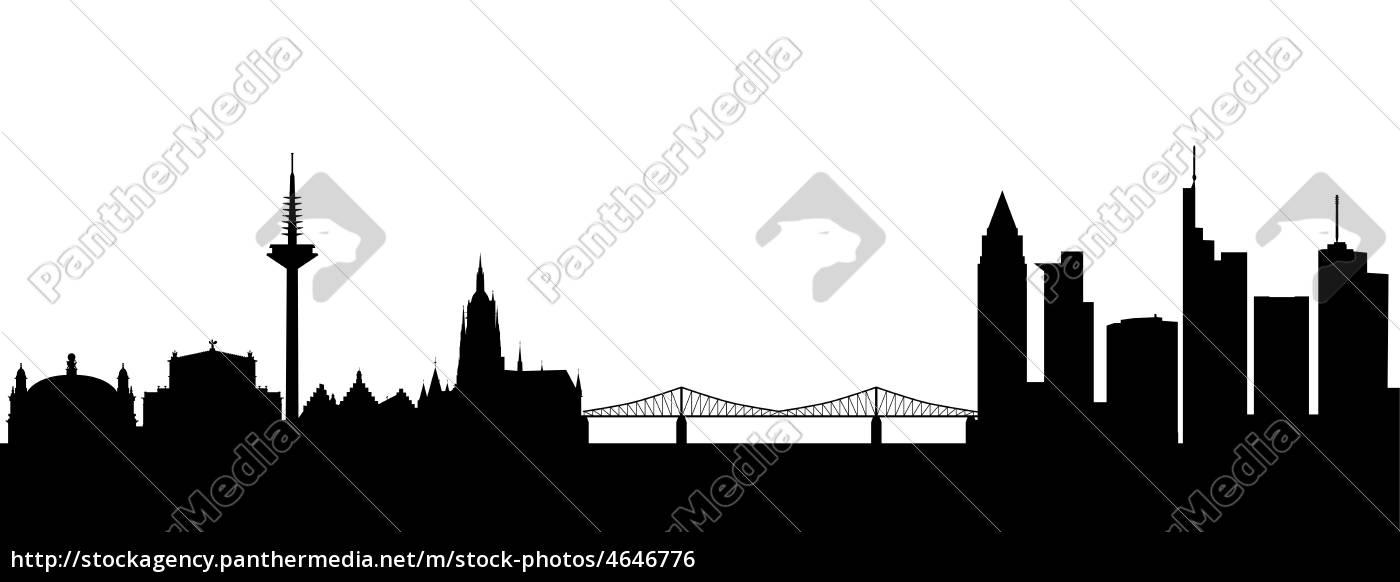 frankfurt, silhouette, abstrakt - 4646776