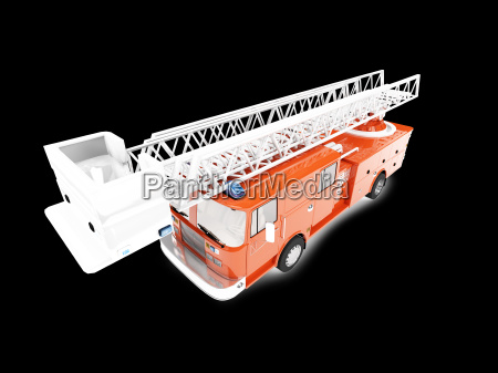 firetruck long isolated front view