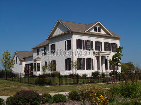 two story new historical styled home