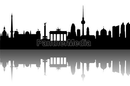berlin skyline abstrakt
