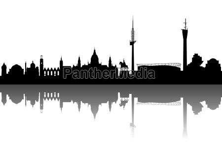 hannover silhouette abstrakt