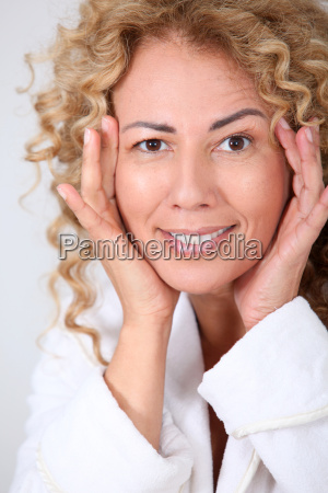 portrait of beautiful woman looking at