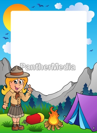 summer frame with scout theme 2