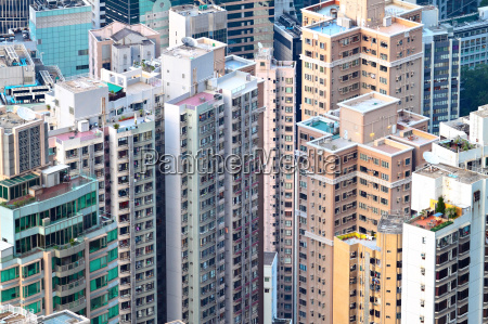 crowded apartment building