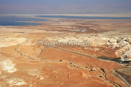 aerial view on arava desert and
