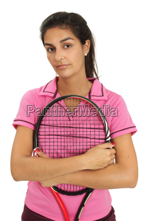 female tennis player with attitude