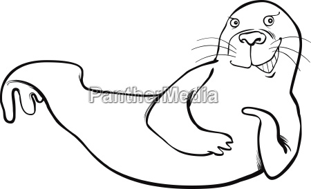 funny seal coloring page