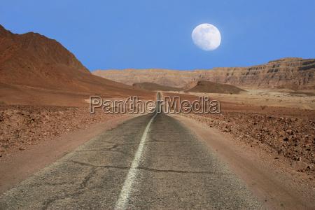 view on narrow road running through