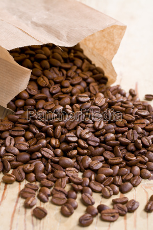 coffee beans in paper bag