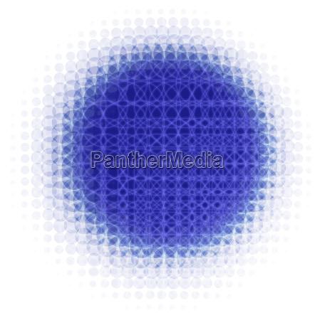 abstrakt kugel raster bewegung