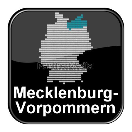 glossy button schwarz bundesland mecklenburg