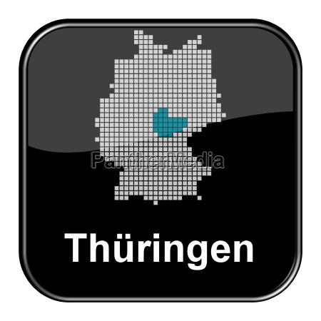 glossy button schwarz bundesland thueringen