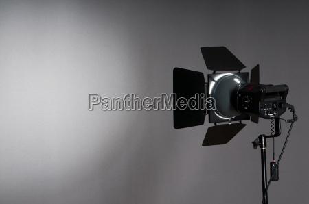 vorhaenge und projektor lichter mit raum