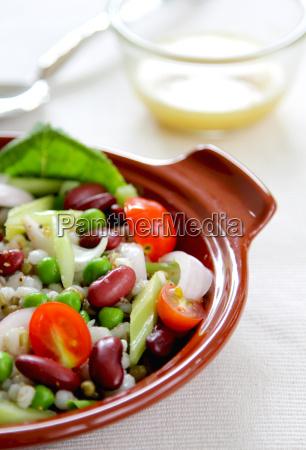 beans grains salad