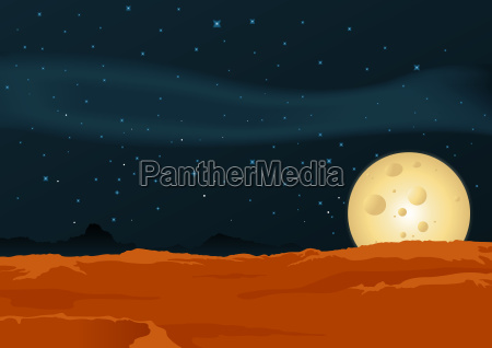 lunar desert landscape