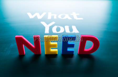 what you need concept