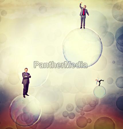 men on bubbles
