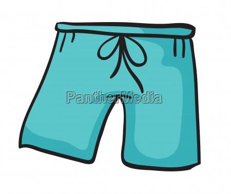 a blue pant