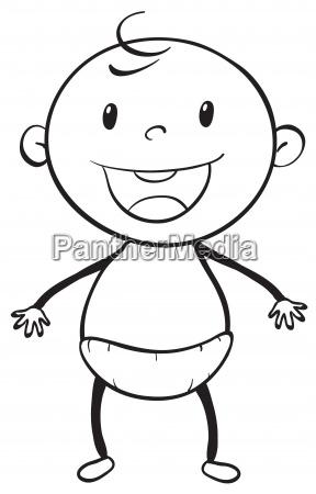 a baby sketch