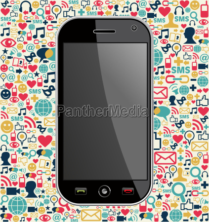 smart phone network icon background