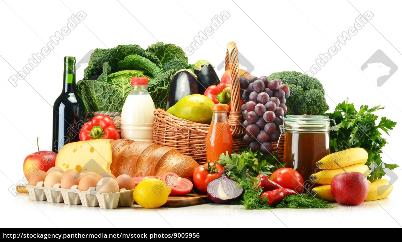 lebensmittelprodukte, wie, gemüse, obst, milchprodukte, und, getränke - 9005956