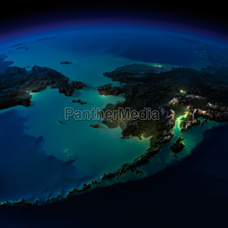 night earth alaska and the bering