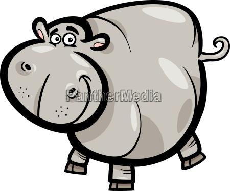 hippo or hippopotamus cartoon character