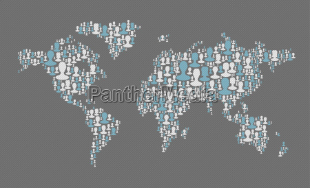 world map social media concept composed